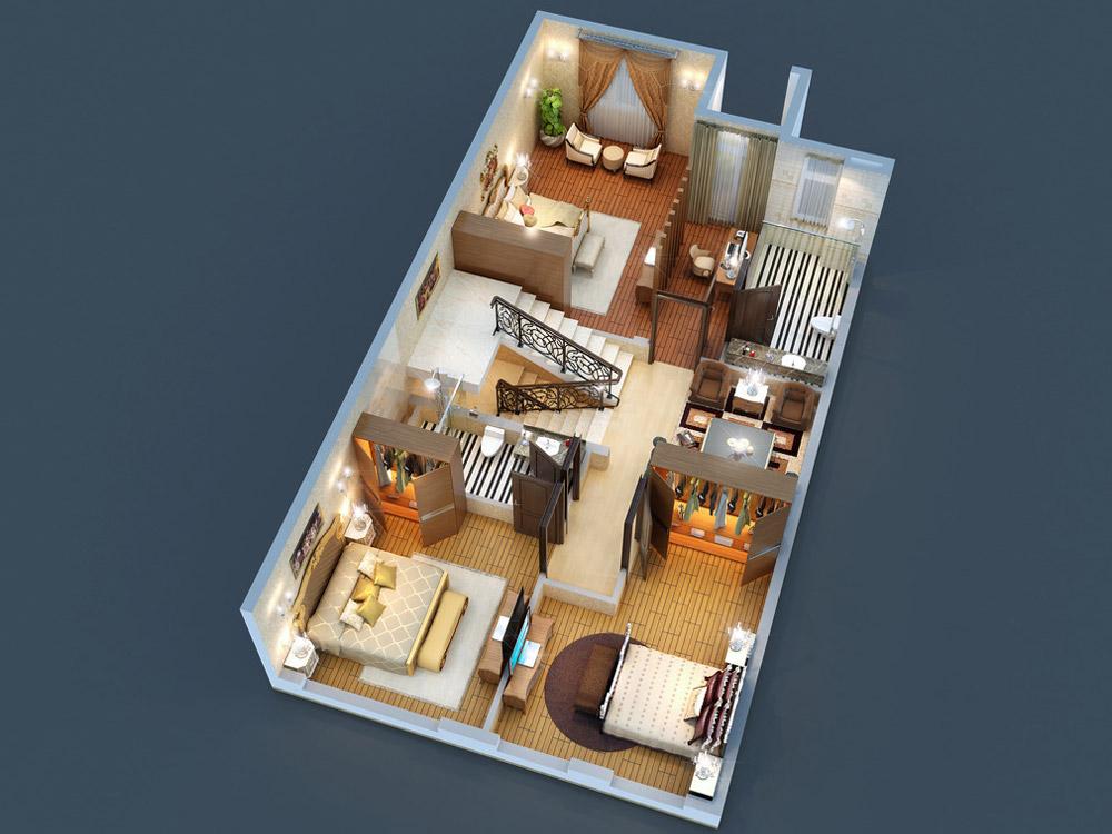 3D Floor Plan 4