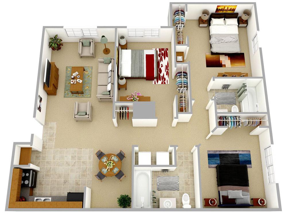 3D Floor Plan 3